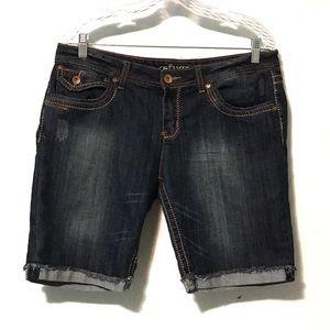 Refuge distressed denim bermuda shorts plus 14